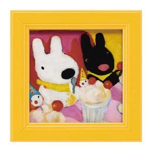 アートパネル リサとガスパール リサガス ミニアート ウォールパネル 小さい インテリアパネル 壁掛け 子供部屋 絵画 絵 玄関 ピエロのパフェ GL-00663 うさぎ ウサギ イラスト かわいい おしゃれ