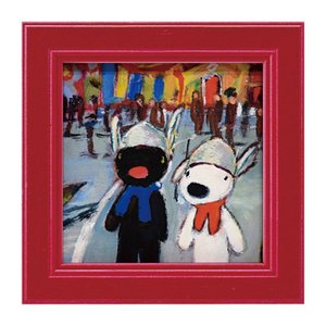 アートパネル リサとガスパール リサガス ミニアート ウォールパネル 小さい インテリアパネル 壁掛け 子供部屋 絵画 絵 玄関 ゆうえんち GL-00665 うさぎ ウサギ イラスト かわいい おしゃれ 遊園地