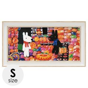 リサとガスパール リサガス 絵画 絵 アート インテリア 子供部屋 リサとガスパール リサガス アートフレーム キャンディーハウス ワイドSサイズ  GL-03552 うさぎ ウサギ イラスト かわいい おしゃれ