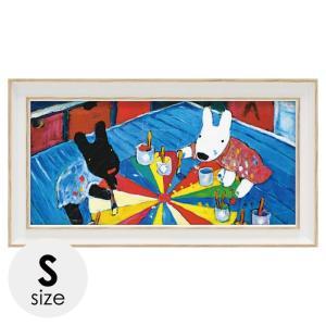 リサとガスパール リサガス 絵画 絵 アート インテリア 子供部屋 リサとガスパール リサガス アートフレーム ペインティング ワイドSサイズ  GL-03558 うさぎ ウサギ イラスト かわいい おしゃれ