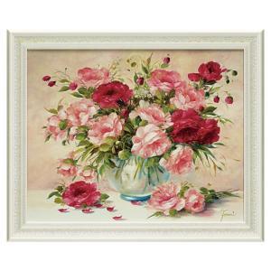 絵画 花 薔薇 ばら バラ 絵 アート インテリア フラワー 赤 レッド ローズ ファザーニ メロディ ウィズ ローズ FA-11001