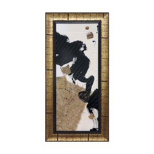 絵画 壁掛け 抽象画 アート アートパネル クリス パシュケ「ギルド コラージュ オン ホワイト1」 CP-07503