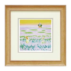 絵画 絵 アート アートフレーム 版画 風景 くりのきはるみ Lavender KH-10130