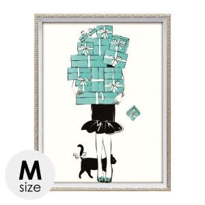 アートパネル ブランドオマージュアート ティファニー TIFFANY インテリア オマージュキャンバスアート ショッピングガール1 Mサイズ マルティナ パブロバ 新生|e-zakkaya