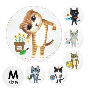 アートパネル 猫 ミニアート インテリア アート 木製ラウンドアート 糸井忠晴 猫 ねこ ネコ キャット おしゃれ かわいい
