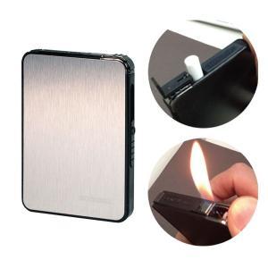 シガレットケース たばこケース 煙草ケース COMBI ライター付きポップアップケース シルバー メール便対応   メンズ Men's  おしゃれ|e-zakkaya