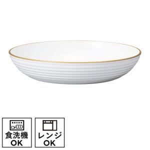 プレート 皿  深皿 食器 白 サーフ深皿  ホワイト&ゴールド クリスマス ギフト プレゼント 贈...