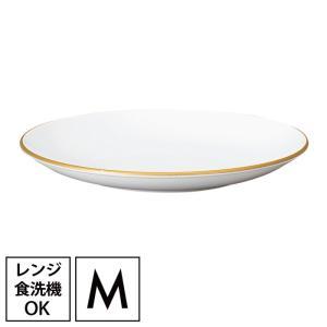 プレート 皿  食器 白 和洋平皿 M ホワイト&ゴールド クリスマス ギフト プレゼント 贈り物