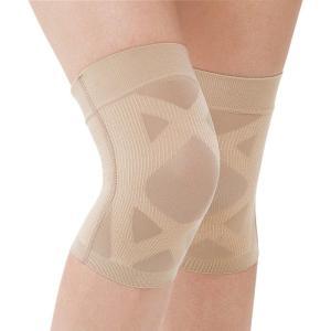 サポーター 膝 ひざ用 膝サポーター 薄い 締めつけ感なし 歩行 ひざ痛 痛み 軽減 テーピスト XX ダブルエックス ベージュ
