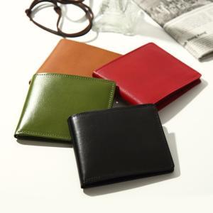 財布 二つ折れ 播州レザー 姫路レザー バンタンレザー カード入れ 札入れ 春財布