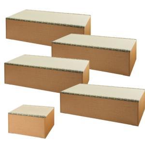 畳 収納 ボックス 畳ユニットボックス い草グリーン ナチュラル ロータイプ 180×180cm Aセット