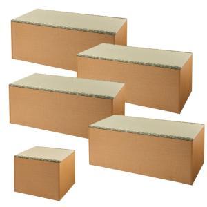 畳 収納 ボックス 畳ユニットボックス い草グリーン ナチュラル ハイタイプ 180×180cm Aセット
