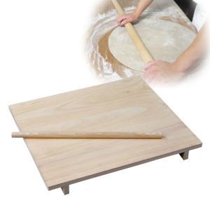 蕎麦 のし板 めん棒付き 麺棒付き 大 85294  記念品|e-zakkaya