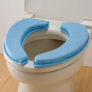 便座シート 便座クッション トイレ うっとりふわもち便座クッション ブルー|e-zakkaya