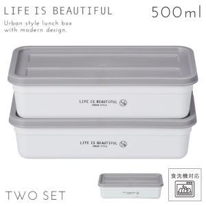 弁当箱 フルーツ用 デザート サブ 電子レンジ対応 食洗機対応 アーバンスタイル コンテナボックスL 2P