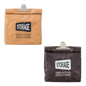 ランチバッグ 保冷 お弁当用バッグ おしゃれ STORAGE クラッチバッグ クリップ付き 全2色