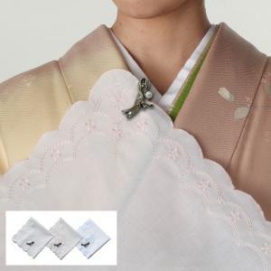 ハンカチ 和装小物 着物 ハンカチ&クリップ 全3色|e-zakkaya