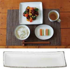 和食器 皿 日本製 レンジ対応 食洗機対応 食洗器対応 描き落とし粉引 さんま皿 K11223 アイデア 便利|e-zakkaya