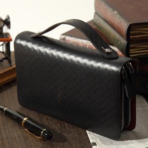 セカンドバッグ メンズ 本革 持ち手 AMETHYST スペインレザー チェックセカンドバッグ 全3色 AM-02 春財布