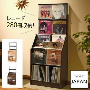 レコード ディスプレイ 収納 棚 レコードラック 大容量 省スペース オークス レコードディスプレイラック RCS710 メーカー直送|e-zakkaya