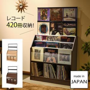 レコード ディスプレイ 収納 棚 レコードラック 大容量 省スペース オークス レコードディスプレイラック RCS1030 メーカー直送|e-zakkaya