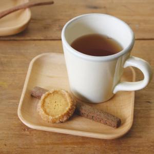 コースター 木製 ソーサー おしゃれ コーヒーソーサー ブナ 角 3V35-4 ギフト プレゼント 贈り物 e-zakkaya