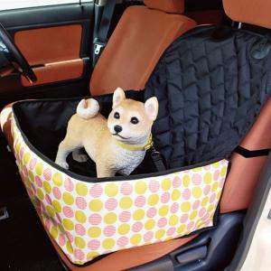 車に取り付けることのできるペット用のドライブシートです。 飛び出し防止のリードをつけるフック付き。 ...