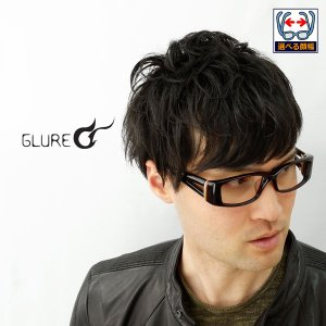 太いフレーム GLURE グルール SP80 度付きメガネ ダテめがね ブルーライトカット ゴツイ メンズ |e-zone