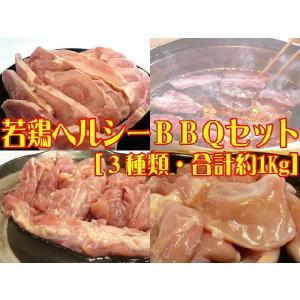 九州産▲若鶏ヘルシーBBQセット[合計約1Kg]☆焼肉でスタミナUP(福袋)[送料無料 一部地域を除く]|e298com
