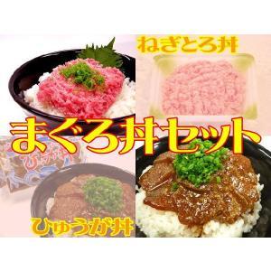 まぐろ丼セット☆ねぎとろ[3パック]&ひゅうが丼[2袋]セット[送料無料 一部地域を除く]|e298com