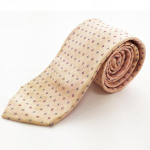 ◆BEAMS ビームス ネクタイ メンズ ピンク 花柄 総柄 シルク100% 絹 日本製 ビジネス 通勤 レギュラータイ 6AC/30890 e3apparel-ltd-ys