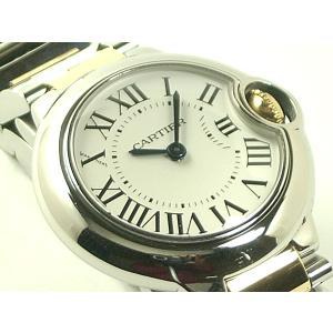 カルティエ 腕時計 バロンブルーSM SS/YG クオーツ レディース|e78nakaya