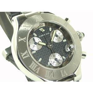 カルティエ 腕時計 クロノスカフ SS/ラバー クオーツ|e78nakaya