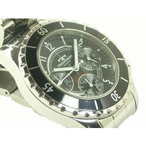 テクノス 腕時計 クロノグラフ T3032TB SS/セラミック クオーツ|e78nakaya