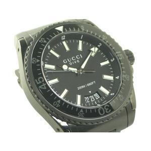 グッチ 腕時計 ダイブ エクストララージ ブラックPVD 136.2 クオーツ|e78nakaya