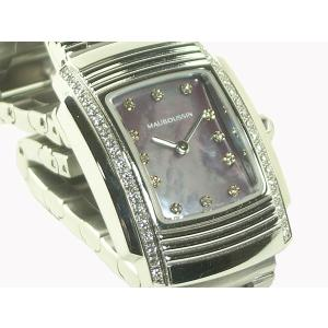 モーブッサン 腕時計 FOUGA SS 12P ダイヤベゼル クオーツ|e78nakaya