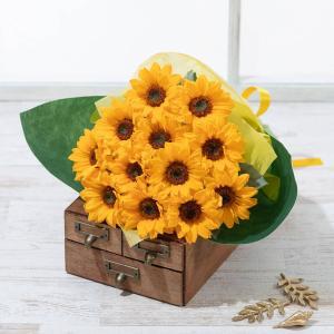 父の日 花束 太陽の贈りもの 12本 生花 ブーケ 2019 プレゼント ギフト|e87ys