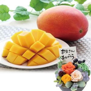父の日 プリザーブドセット 宮崎県産 完熟マンゴー 果物 フルーツ 花 2019 プレゼント ギフト 送料無料|e87ys