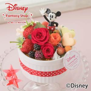 キャッシュレス5%還元 ディズニー プリザーブドフラワー「ハピネスcake〜ミッキー〜」 disne...