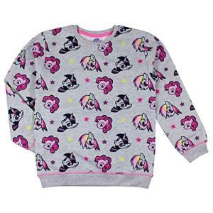 0044 マイリトルポニー My Little Pony スウェット トレーナー レディース ガールズ グレイ 灰色 [並行輸入品] ea-s-t-store