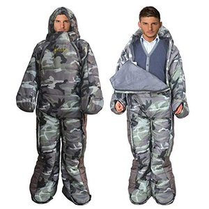 MAXSOINS公式ショップ 着る寝袋 人型 動ける寝袋 シュラフ 冬用 水洗い可 [適応身長160cm〜180cm] [最低使用温度-10℃]|ea-s-t-store