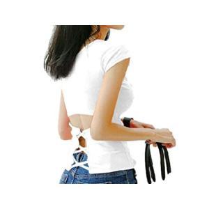 [アドグレイス] 無地 半袖 tシャツ バックシャン 背中あき 白 黒 MXL|ea-s-t-store