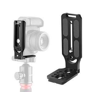Neewer L型ブラケットクイックシューQRプレート 垂直ビデオ撮影ユニバーサルDSLRカメラLブラケット 1/4インチスク|ea-s-t-store