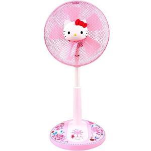 フィフティ ハローキティ 30cmリビング扇風機 (押しボタンスイッチ)(風量3段階) タイマー付 ...