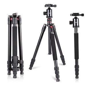 Neewer カメラ三脚/一脚 旅行用 アルミニウム合金 64inches/ 162cm 360度ボールヘッド、1/4インチクイックシューズ|ea-s-t-store