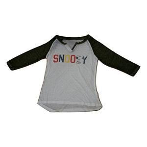 スヌーピー ピーナッツ Snoopy Peanuts Tシャツ 7分袖 レディース ガールズ サイズ感大きめ 生地薄め  ea-s-t-store