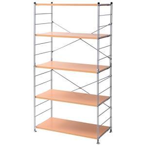 山善 ラック オープンシェルフ 幅85.5奥行41.5高さ162cm 5段 連結可能 簡単高さ調節 耐荷重約25kg(棚板1枚あたり) 組 ea-s-t-store