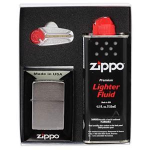 ZIPPO(ジッポ) ライター 200モデル ギフトボックス(フリント、オイル小缶付) 200SET ea-s-t-store