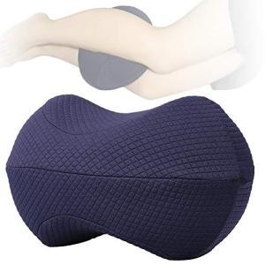 【最新型アップグレード足枕】100%高密度のメモリーフォーム独特サッカーの形型設計、足に負担をかける...