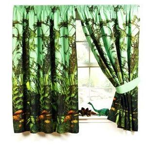 1721 ジェラシック・ジャングル カーテン 幅168cm x 高さ183cm x 2枚 タッセル付き [並行輸入品] ea-s-t-store